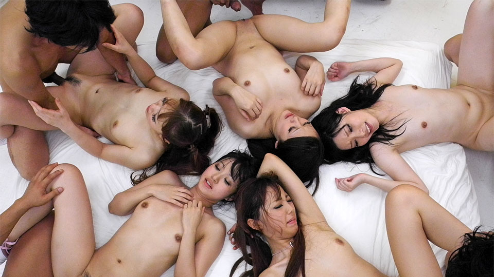 Beautiful Asian girls having a nasty orgy